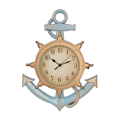 Cottage Blue Anchor Clock