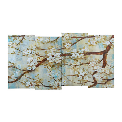 White Cherry Blossom Canvas Art Print