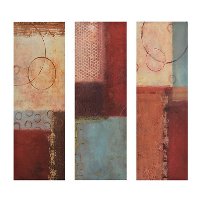 Abstract Go Round Canvas Art Prints, Set of 3