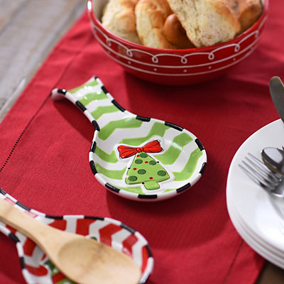 Chevron Christmas Tree Spoon Rest
