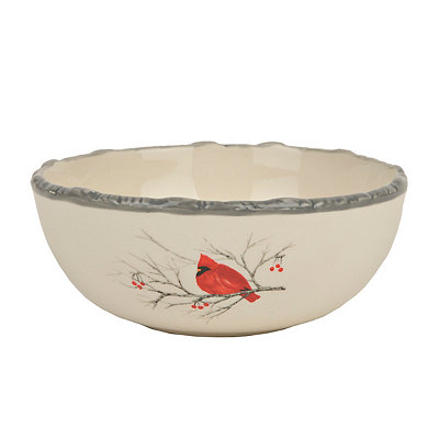Winter Cardinal Cereal Bowl