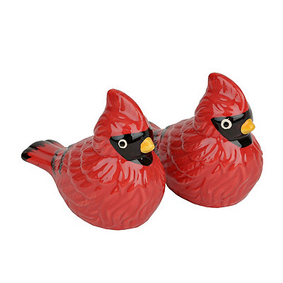 Winter Cardinals Salt and Pepper Shaker Set
