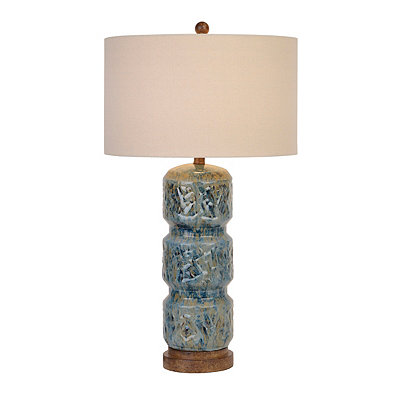 Reactive Blue Ceramic Table Lamp