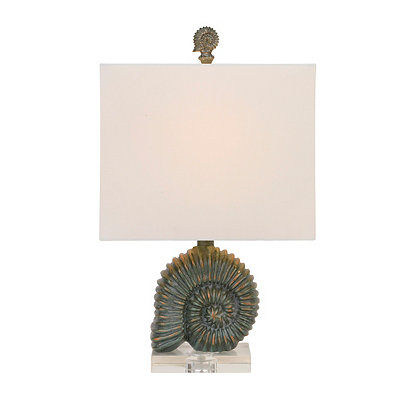 Bronze Sea Nautilus Shell Table Lamp
