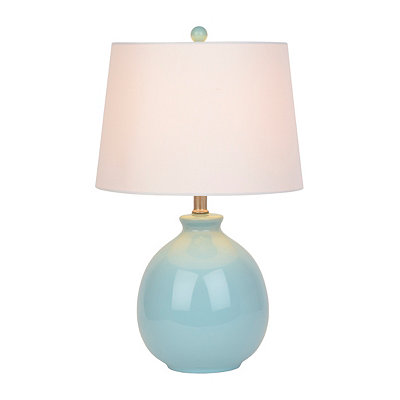 Spa Blue Ceramic Table Lamp