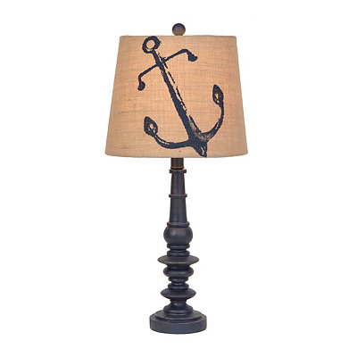 Navy Anchor Spindle Table Lamp