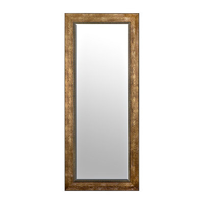 Bronze Ridged Framed Mirror, 33x79 in.