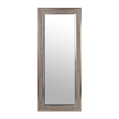 Rustic Gray Famed Mirror, 33x79
