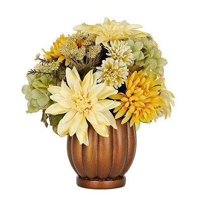 Cream and Yellow Hydrangea Mix Arrangement