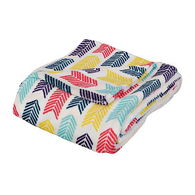 Multicolor Arrow Oversized Fleece Throw Blanket