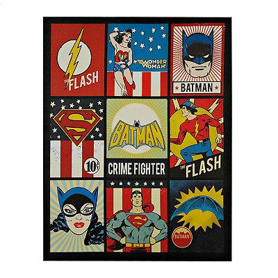 Vintage DC Comic Patchwork Canvas Art Print