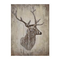 Rustic Deer Silhouette Wooden Plaque