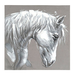 White Stallion Canvas Art