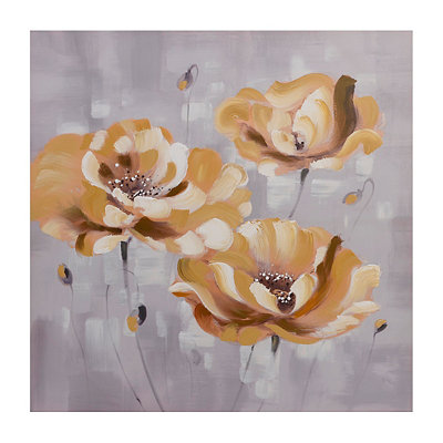 Golden Flower Patch Canvas Art Print