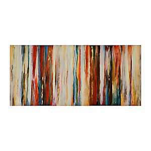 Crimson Abstract Canvas Art