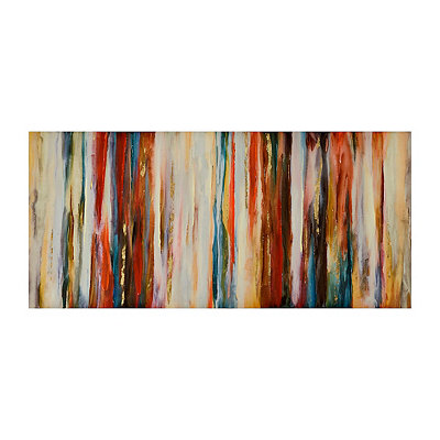 Crimson Abstract Canvas Art