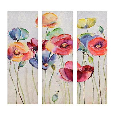 Vibrant Blooms Canvas Art Prints, Set of 3