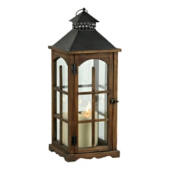 Wood and Metal Cabin Lantern