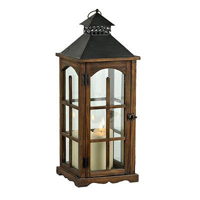 Wood and Metal Cabin Lantern