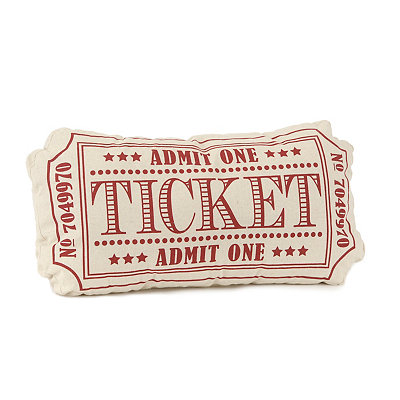 Red Movie Ticket Pillow