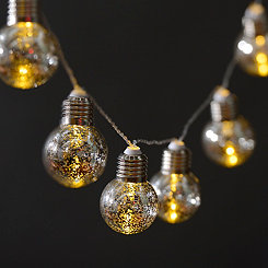 Silver Mercury Glass Marquee String Lights
