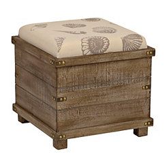 Seashell Reversible Tabletop Storage Ottoman