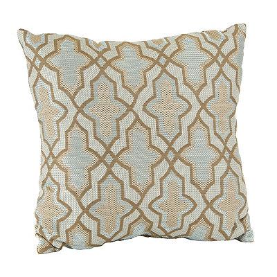 Aqua Karlin Quatrefoil Pillow