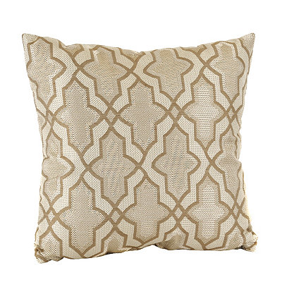 Natural Karlin Quatrefoil Pillow