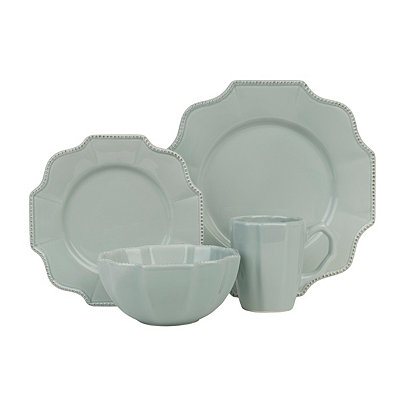 Blue Mist Scalloped 16-pc. Dinnerware Set