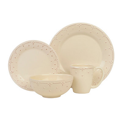 Genevieve Cream 16-pc. Dinnerware Set