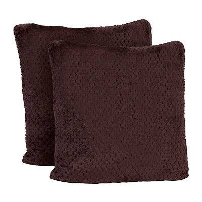 Baroque Chocolate Velvet Pillows, Set of 2