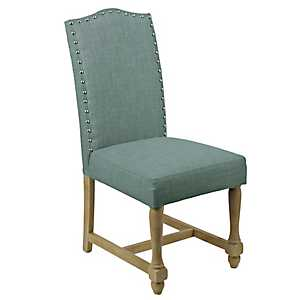 Blue Spindle Dining Chair