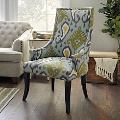 Blue Ikat Chatham Accent Chair