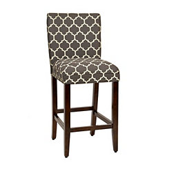 Charcoal Quatrefoil Bar Stool
