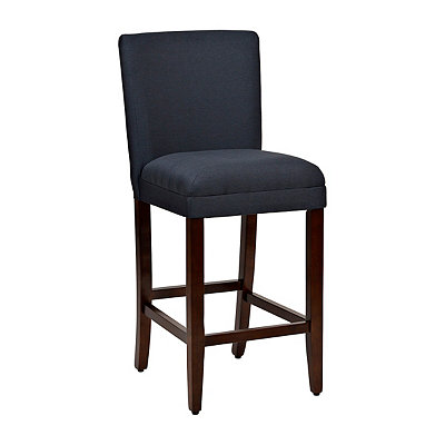 Upholstered Navy Bar Stool