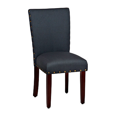 Navy Nailhead Parsons Chair