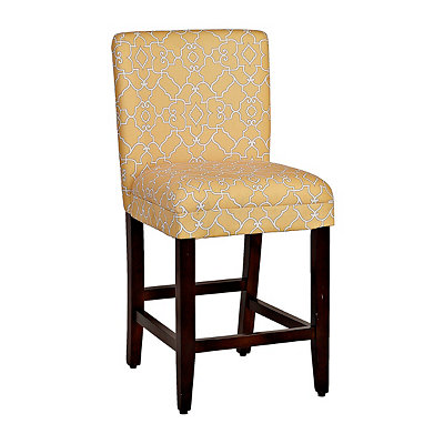 Lemon Trellis Counter Stool