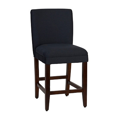 Upholstered Navy Counter Stool