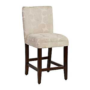 Taupe Paisley Swirl Counter Stool