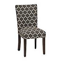 Charcoal Quatrefoil Parsons Chair