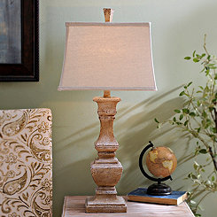 Rustic Cream Table Lamp