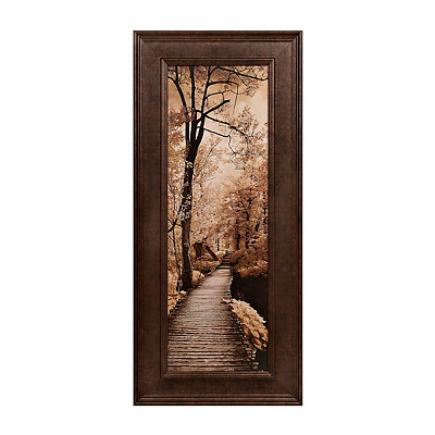 Sepia Pathways I Framed Art Print