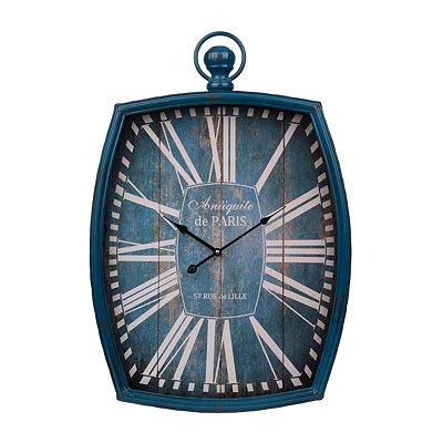 Antique Blue Pocket Watch Clock