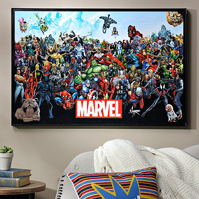 Marvel Lineup Framed Art Print