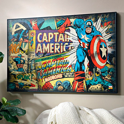 Vintage Captain America Framed Art Print