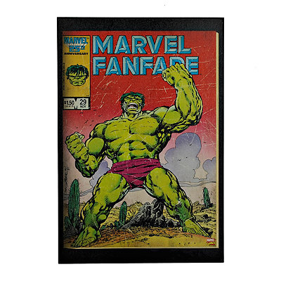 Vintage Hulk Fanfare Framed Art Print