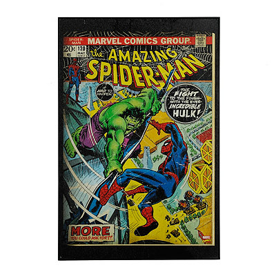 Spider-Man Versus The Hulk Framed Art Print