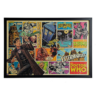 Doctor Who Comic Strip Framed Art Print