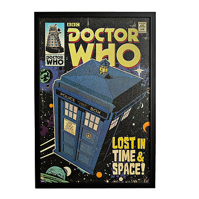 Doctor Who Lost in Time Framed Art Print