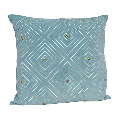 Aqua Zafar Embroidered Pillow